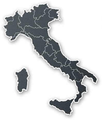 Karta Nord Italien.Italien Klosterresor